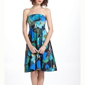 VanessaVirginia blue green watercolor floral dress